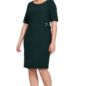 Jessica Howard, Forest Green Side Buckle Dress